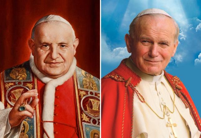 Pope John XXIII and Pope John Paul II