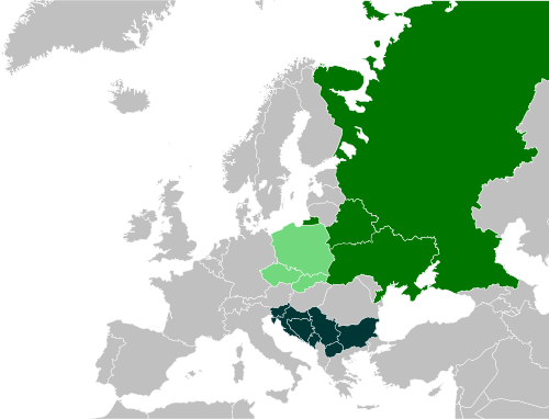 Modern Slavic Language Nations