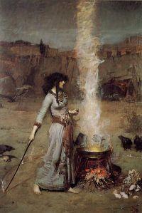 Magic Circle by John William Waterhouse - 1886