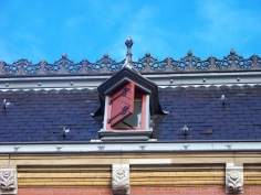 Gable windows in the city