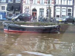 Typical Amsterdam: boats everywhere