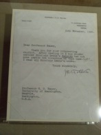 Letter to UW professor: H. C. Bauer